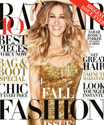 Sarah Jessica Parker on the cover of Harper's Bazaar