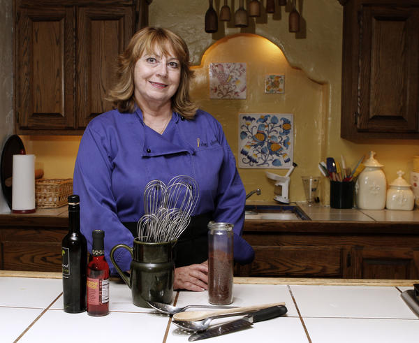 Chez Cherie owner Cherie Twohy in the kitchen of her business on the 1400 block of Foothill Boulevard in La Cañada Flintridge on Friday, August 2, 2013. Twohy has taught cooking classes at this location for 13 years.