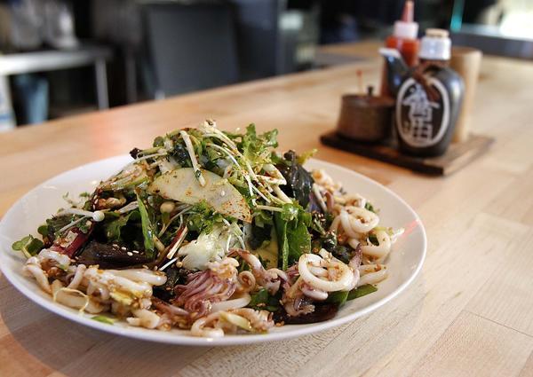 Ennar Calasian Grill's squid salad.