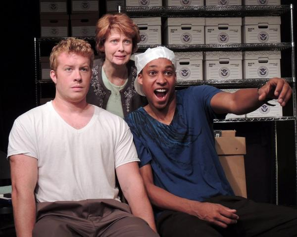"Patrick Quinlan, left, Kathleen M. Darcy and Amir Abdullah in ""Brendan"" at the Banshee."