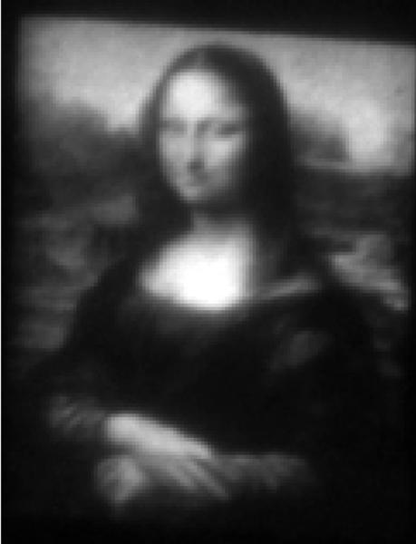 Yes, it's a little fuzzy, but this image of the Mona Lisa was created on a canvas one-third as thick as a hair on your head.