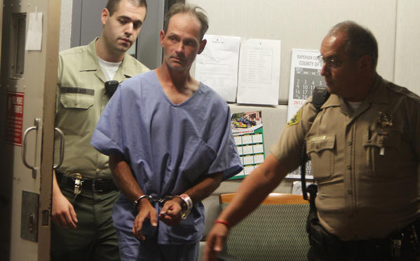 Nathan Louis Campbell, suspected in the Venice boardwalk rampage, is arraigned at the Airport Courthouse in Los Angeles.