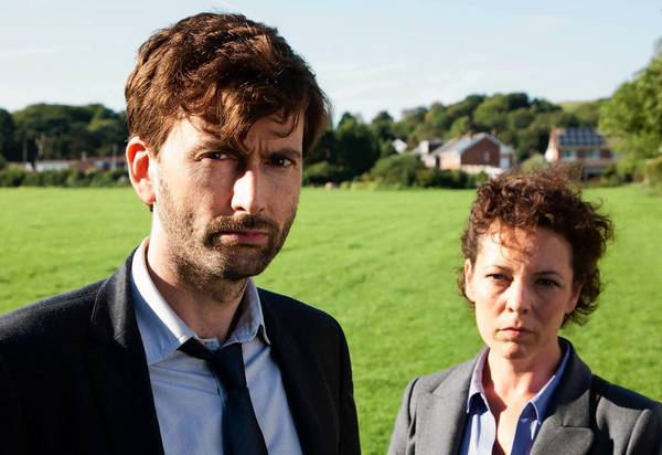 "David Tennant and Olivia Colman star in ""Broadchurch."""