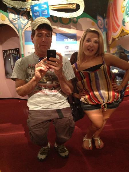 Jim DiMaggio with the girl he has allegedly kidnapped, Hannah Anderson, on a trip to Los Angeles earlier this year.