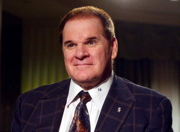 Baseball player and all-time hits leader Pete Rose.