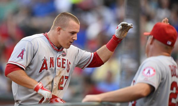 Angels center fielder Mike Trout is considered an early favorite in the American League MVP race.