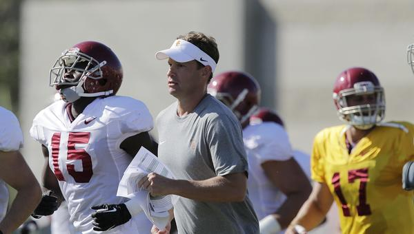 USC Coach Lane Kiffin said he likes offensive tackle Chad Wheeler's athleticism.