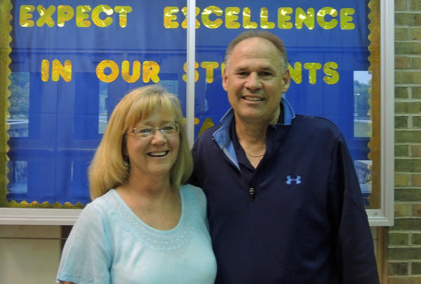 Gretchen Lucky and Scott Batchelor are retiring from Petoskey High School.