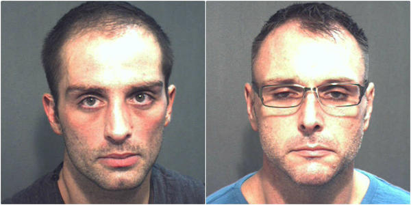 From left, Leonard Ruckman, 31, and Dennis Scott, 42, face methamphetamine possession-related charges. Officers investigating a drug deal involving the two uncovered a meth lab at a home on East Washington Street, police say.
