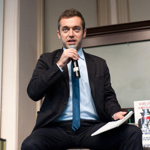 Michael Hastings at Barnes & Noble Union Square in 2012 in New York City.