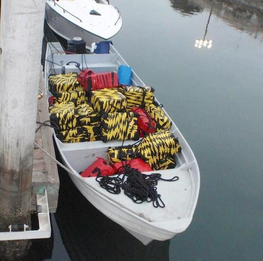 Authorities said they found more than $4 million in marijuana in a boat off Laguna Beach.