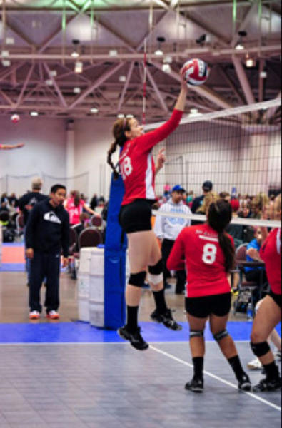 Katherine Miles is a multi-talented volleyball player at Maine South High School.