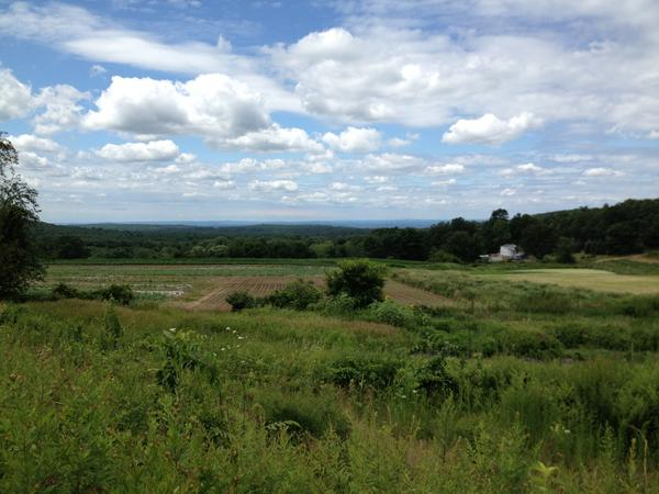 This view from the town-owned Minnechaug Farm will soon be open to the public.