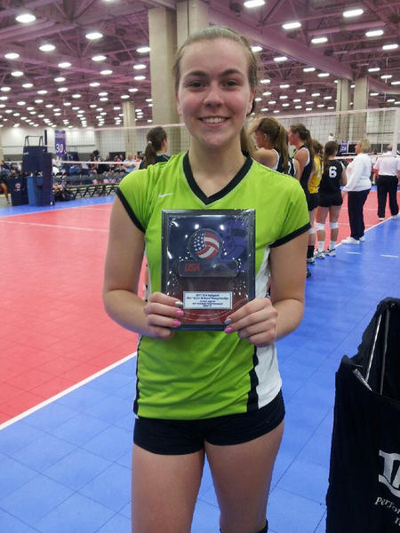 Maine East volleyball player Hannah Farley credits her coaches with inspiring her to play at a high level.