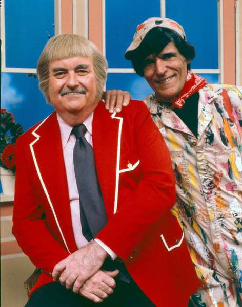 "Cosmo Allegretti, right, who played or voiced numerous characters on ""Captain Kangaroo,"" poses with host Bob Keeshan in 1979."