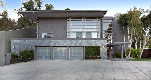 The house has a three-car garage.