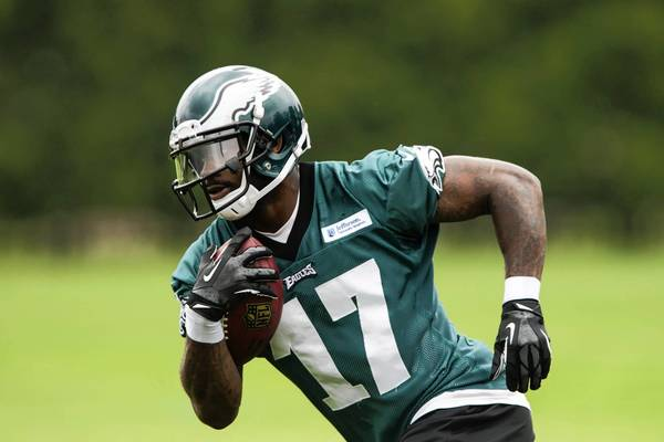 Wide receiver Arrelious Benn is one of three Eagles to suffer ACL injuries in training camp.