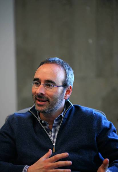 Eric Lefkofsky, shown here in April 2012, had been serving as interim co-CEO since founding CEO Andrew Mason was fired in February.