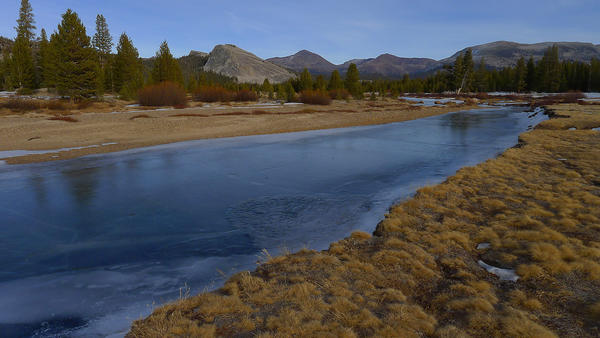 The Tuolumne River in Yosemite National Park in January, when the