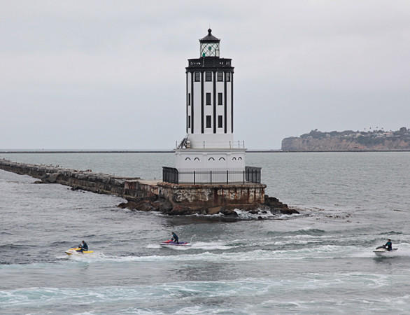 Angels Gate lighthouse, welcoming ships to the L.A. Harbor, underwent a $1.8-million restoration effort last year. The lighthouse is fully automated now, operated by remote control by the Coast Guard.