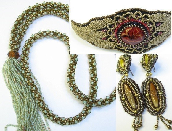 Kumihimo and bead embroidery classes oak leaves