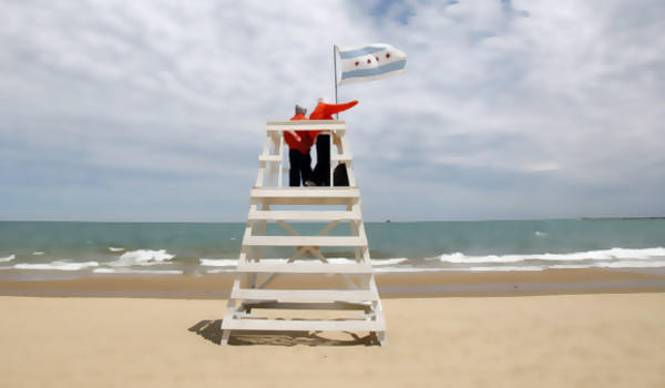 Two Chicago lifeguards in 2008.
