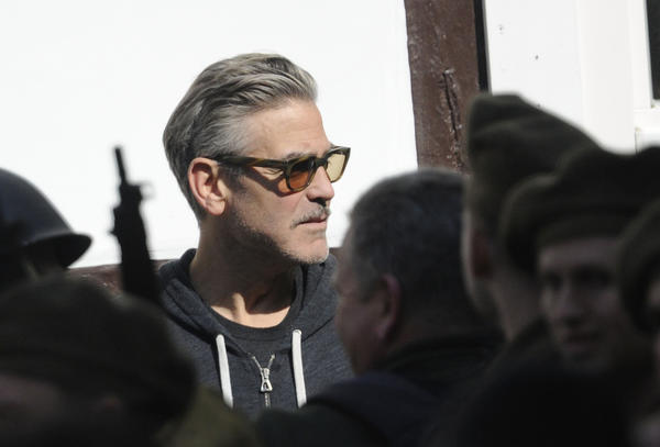 "Actor and director George Clooney is seen on the set of ""The Monuments Men"" in Goslar, Germany."