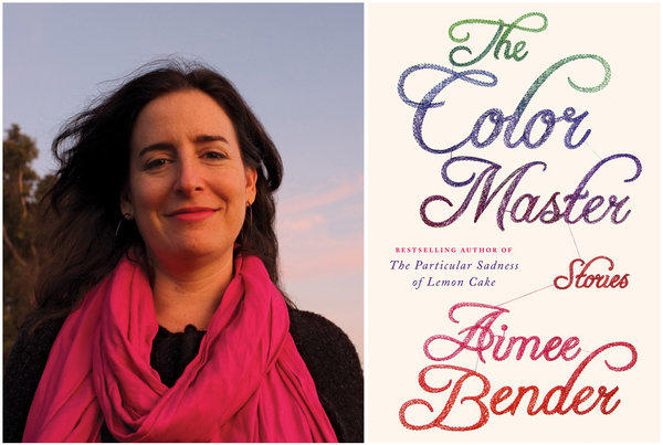 "Author Aimee Bender and the cover of her book, ""The Color Master."""