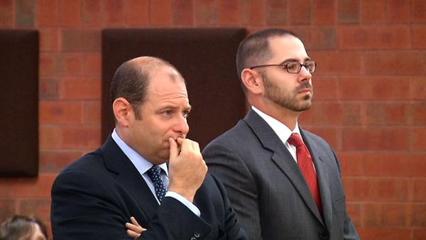 Jared Kupiec, right, at his arraignment in Superior Court in Hartford Thursday.