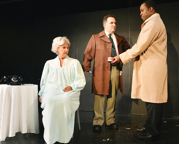 Claudia Patterson plays the role of Daisy Werthan, David Keye plays Boolie Werthan and Andre Brown plays Hoke Coleburn in the Washington County Playhouse production of Driving Miss Daisy.