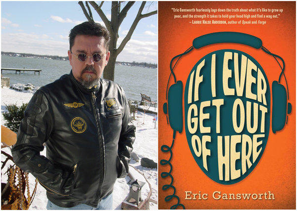 "Author Eric Gansworth and the cover of his book, ""If I Ever Get Out of Here."""