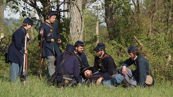 Marylands Heart of the Civil War, combines scenic shots and re-enactments with commentaries from historians.