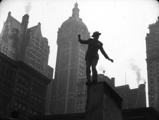 Madcap chase across lower Manhattan in restored Orson Welles film 'Too Much Johnson.'