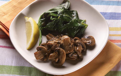 Soy-glazed mushrooms