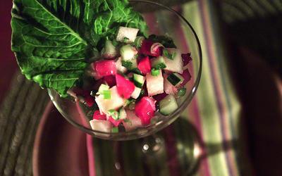 Israeli salad, California style