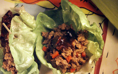 Ground Turkey in Lettuce Cups