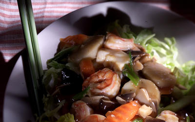 Shrimp And Scallop Stir-Fry
