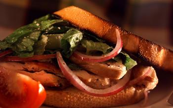 Warm Caesar salad sandwiches