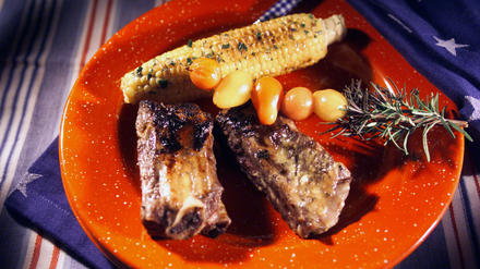 Orange-and Mustard-Glazed Beef Ribs