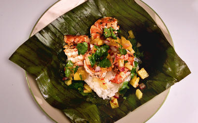 Backyard Barbecue Shrimp Tamales With Pineapple Pico de Gallo