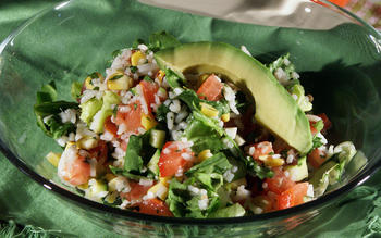 Rice and Vegetable Chopped Salad