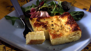 Italian cheese custard sandwich