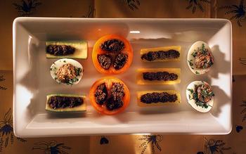 Tapenade-stuffed vegetables