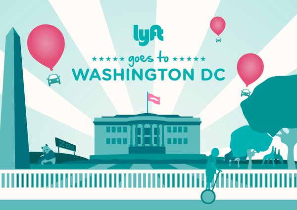 Lyft is launching in Washington, D.C., this week, its seventh city.