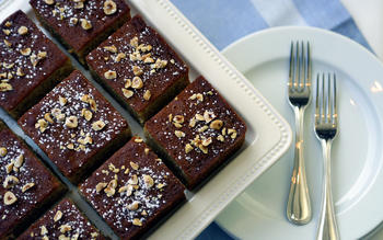 Hazelnut Honey Squares
