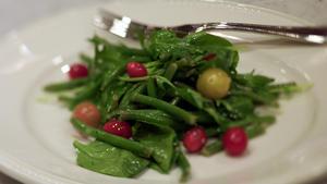 Haricots Verts and Tomato Salad