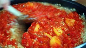 Heirloom tomato risotto