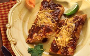 Classic red enchiladas