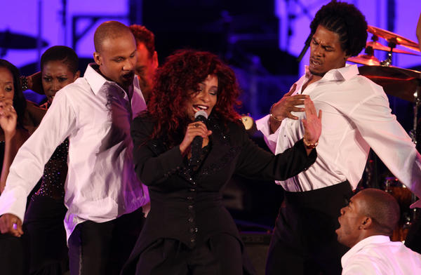 Chaka Khan, at the Hollywood Bowl in 2012, has addressed a reported feud with Lindsay Lohan on her website.