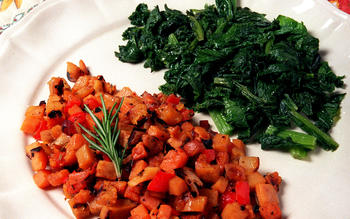 Sweet Potato Hash With Pancetta and Rosemary